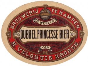 Kampen Dubbel Princessebier - Source: bieretiketten.nl