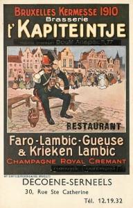 Brasserie 't Kapiteintje 1910 - Source: delcampe.net