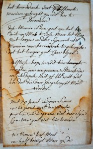 Recipe White beer from Etten anno 1783 - City Archives Rotterdam