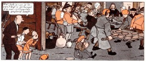 Lambic and Breughel: in reality they never met. Fans of the Suske & Wiske comics will get the in-joke. From: Suske en Wiske - Het Spaanse Spook.