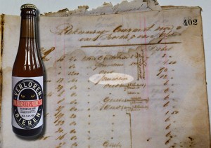 Brewery De Ster, Zwijndrecht - Current Account for 1878, featuring 'princesse'. City Archives Amsterdam. Bottle: own brew.