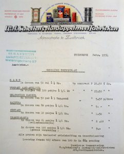Price offer Scholten's potato flour factory - Source: Stadsarchief Breda