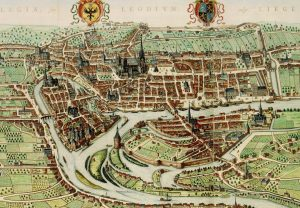 View of Liège, by Johan Blaeu, 1649. In the late 17th century, beer from Liège became popular in the Northern Netherlands.