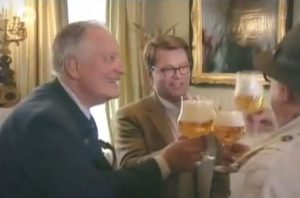 Father and son Bosteels on the Belgian tv show Tournée Générale (2011), explaining how they came up with Tripel Karmeliet.
