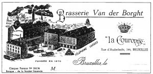 The Vander Borght brewery, where in 1894 only 5% of its lambic was sold as gueuze. Source: Les cahiers de la fonderie, 1990.