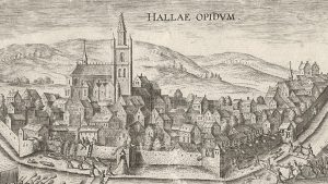 The city of Halle in the 16th century - where they drank 'keute' and 'houppe', but no lambic as far we know. Source: Rijksmuseum, Amsterdam