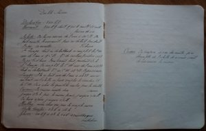 The 1913 brewer's notebook containing the 'double saison' recipe.