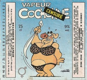 A Vapeur Cochonne label by Louis-Michel Carpentier. And this is actually the censored version.