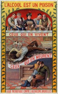 L'alcool est un poison, ca. 1900. Collection Jenevermuseum, Hasselt