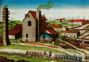 Coal mine in Liège, 1812. It was in this industrial city that saison first appeared. Source: Wikipedia