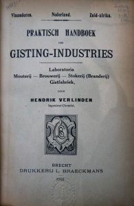 The 'Praktisch handboek' in which Hendrik Verlinden describes seef beer.