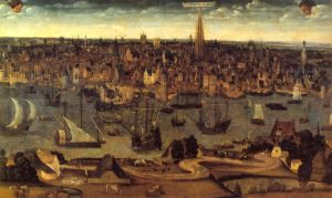 Antwerp in the 16th century - Source: MAS Antwerp