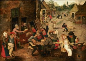 Pieter Breughel the Younger - The Swann inn (detail) - Wikimedia Commons