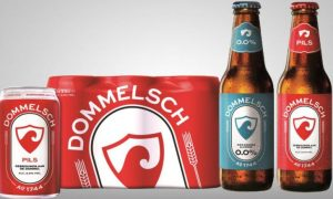Restyled Dommelsch from 2018, not unlike old labels of the former Phoenix brewery in Amersfoort.