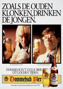 'The generous beer from golden times': in the 1980s Dommelsch was back. Source: geheugenvannederland.nl