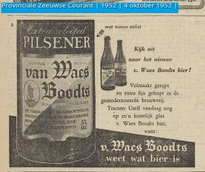'Look for the new Van Waes Boodts beer!'