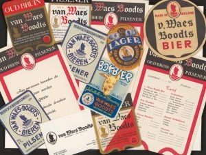 Labels and other printed matter from Van Waes-Boodts brewery. Source: Zeeuws Archief.