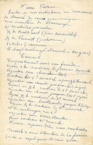 The original recipe Tomsin scribbled down for Pierre Celis. Source: Heemkunde Hoegaarden.