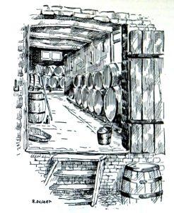 'The cellars at Auguste Lambic's brewery', Les mémoires de Jef Lambic p. 17.