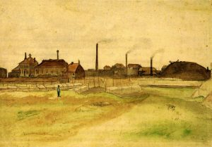 A typical Borinage landscape, as seen by Vincent van Gogh - Source: Wikimedia Commons