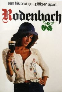 Rodenbach poster, probably from the 1970's, advertising as 'a fresh little brown one... spicy and distinct'.