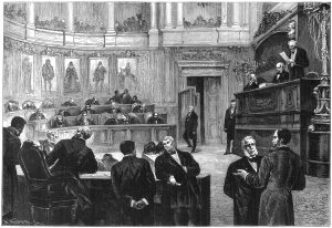 The Belgian parliament during the 1880s, when the new beer law was passed that based the excise tax on the amount of malt used. Source: Wikimedia Commons.